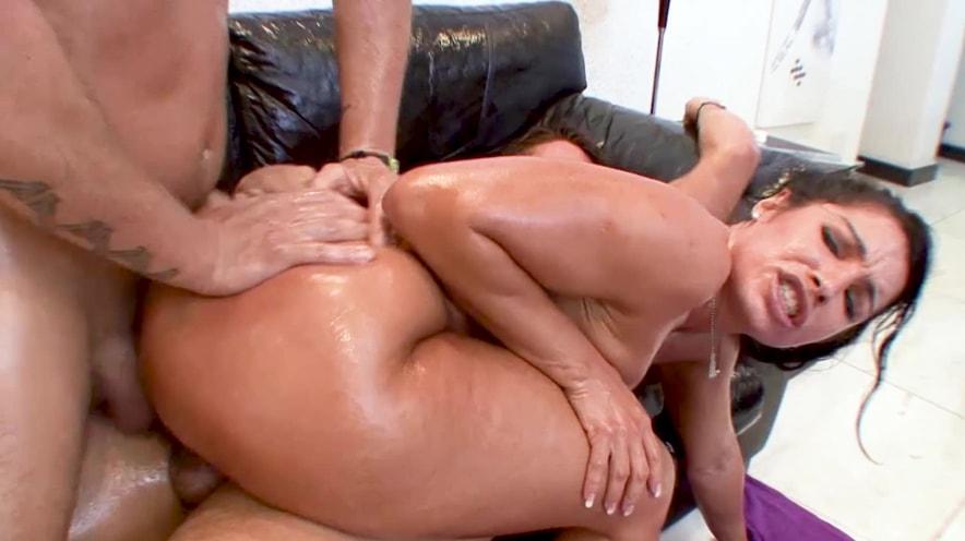 Monica Santiago Gets Double Teamed