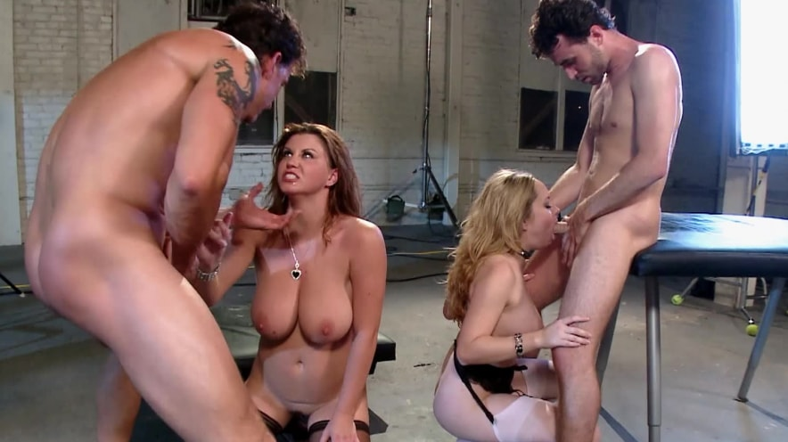 Aiden Starr And Sarah Stone: Huge Natural Tits Orgy